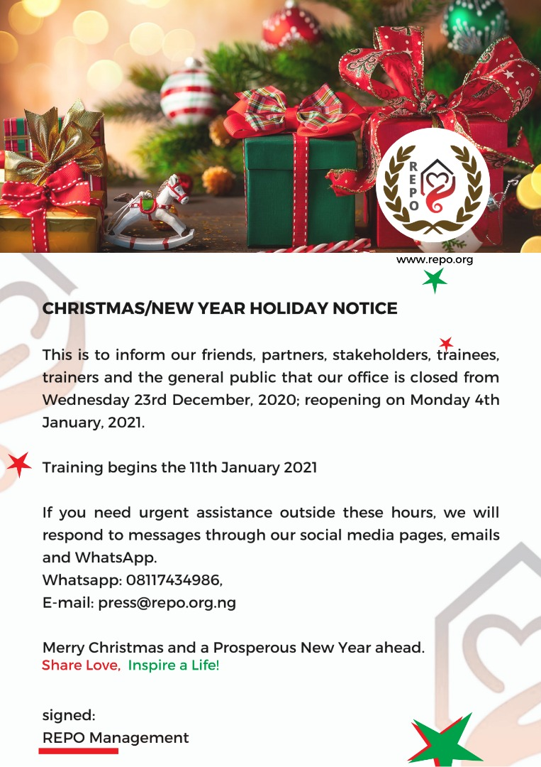 Assistance With Christmas 2021 Christmas New Year Holiday Notice Repo